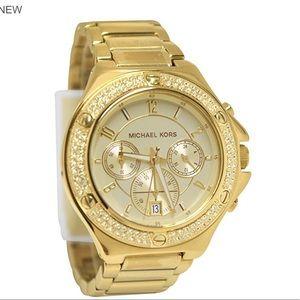 Michael Kors Mk5851 Gold Chrono Date Dial
